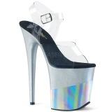 Hopea 20 cm FLAMINGO-808-2HGM kimallus platform sandaalit naisten