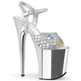 Hopea 20 cm FLAMINGO-809MMRS kimallus platform sandaalit naisten