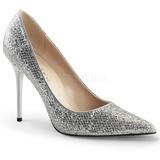 Hopea Kimalle 10 cm CLASSIQUE-20 suuret koot stilettos kengät