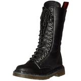 Keinonahka 3,5 cm RIVAL-300 Musta punk saappaat nauhoja