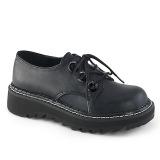 Keinonahka 3 cm LILITH-99 Musta punk kengät nauhoja
