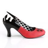 Keinonahka 7,5 cm HARLEY-42 Pinup avokkaat kengät alhainen korot