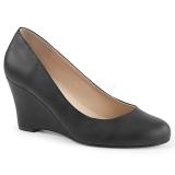Keinonahka 7,5 cm KIMBERLY-08 suuret koot avokkaat kengät