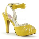 Keltainen 11,5 cm Pinup BETTIE-01 naisten korkosandaalit
