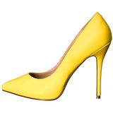 Keltainen Neon 13 cm AMUSE-20 Avokkaat Kengät Piikkikorko
