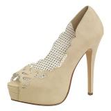 Kerma Keinonahka 13,5 cm BELLA-30 naisten avokärkiset avokkaat kengät