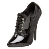 Kiiltonahka 15 cm DOMINA-460 nauha avokkaat kengät oxford musta