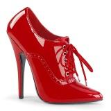Kiiltonahka 15 cm DOMINA-460 nauha avokkaat kengät oxford punainen