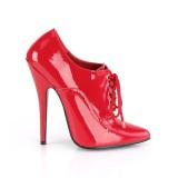 Kiiltonahka 15 cm DOMINA-460 nauha avokkaat kengät oxford punaiset