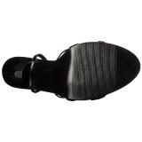 Kiiltonahka 15 cm Devious DOMINA-108 naisten korkosandaalit