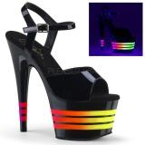 Kiiltonahka 18 cm ADORE-709UVLN2 Sandaalit Neon Platform