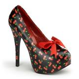 Kirsikka Musta 14,5 cm TEEZE-12-6 naisten kengät korkeat korko