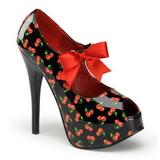Kirsikka Musta 14,5 cm TEEZE-25-3 naisten kengät korkeat korko