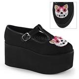 Kitty kangas 8 cm CLICK-04-1 lolita kengät gootti platform
