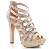 Kulta 11,5 cm Pleaser SELENE-24 Korkeakorkoiset platform sandaletit