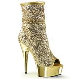 Kulta 15 cm DELIGHT-1008SQ naisten paljetit nilkkurit korkeat korko