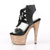 Kulta 18 cm ADORE-700-14LG Glitter platform korkeakorkoiset sandaalit