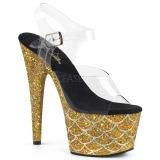 Kulta 18 cm ADORE-708MSLG kimallus platform sandaalit naisten