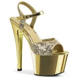 Kulta 18 cm Pleaser SKY-310SQ Paljetit platform korkokengät naisten
