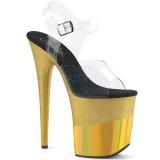 Kulta 20 cm FLAMINGO-808-2HGM kimallus platform sandaalit naisten