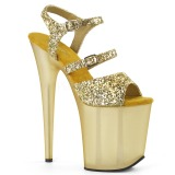 Kulta 20 cm FLAMINGO-874 kimallus platform sandaalit naisten