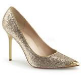 Kulta Kimalle 10 cm CLASSIQUE-20 suuret koot stilettos kengät