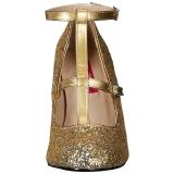 Kulta Kimalle 10 cm QUEEN-01 suuret koot avokkaat kengät