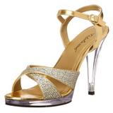 Kulta Kimalle 12 cm FLAIR-419G Naisten Sandaletit Korkea