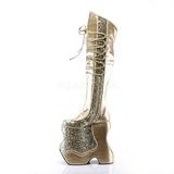 Kulta Kimalle 22 cm FABULOUS-3035 Reisisaappaat varten Drag Queen