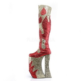 Kulta Kimalle 28 cm SPLASHY-3020 Reisisaappaat varten Drag Queen