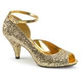 Kulta Kimallus 7,5 cm BELLE-381G naisten avokärkiset avokkaat kengät