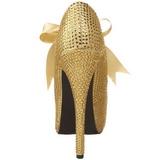 Kulta Kristalli 14,5 cm Burlesque TEEZE-04R Platform Avokkaat Kengät
