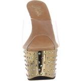 Kulta Kristalli Platform 18 cm STARDUST-701 Korkeakorkoiset Muulit Kengät