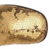 Kulta Paljetit 8 cm SPECTACUL-300SQ Korkosaappaat Miehellä