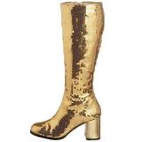 Kulta Paljetit 8 cm SPECTACUL-300SQ Naisten Saappaat