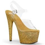 Kulta kimalle 18 cm Pleaser ADORE-708HMG tankotanssi kengät