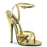 Kultaiset 15 cm DOMINA-108 fetissi piikkikorko sandaalit