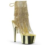 Kultaiset 18 cm ADORE-1017RSF naisten hapsuilla nilkkurit korkeat korko