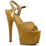 Kultaiset 18 cm ADORE-709-2G kimallus platform sandaalit naisten