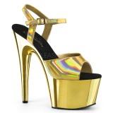 Kultaiset 18 cm ADORE-709HGCH Hologrammi platform korkokengät naisten