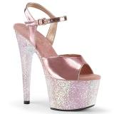 Kultaiset 18 cm ADORE-709LG Glitter platform korkeakorkoiset sandaalit