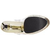 Kultaiset 18 cm Pleaser STARDUST-708 Korkosandaalit Kromi Platform
