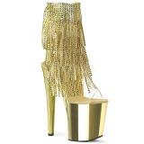 Kultaiset 20 cm XTREME-1017RSF naisten hapsuilla nilkkurit korkeat korko