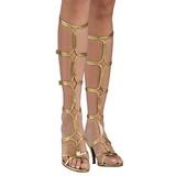 Kultaiset 8 cm ROMAN-10 roman gladiaattorisandaalit naisten