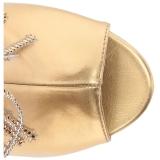 Kultaiset Keinonahka 10 cm QUEEN-100 suuret koot nilkkurit naisten