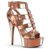 Kultaiset Keinonahka 15 cm DELIGHT-658 korokepohja pleaser kengät