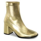 Kultaiset Keinonahka 7,5 cm GOGO-150 paksu korkoiset nilkkurit naiset