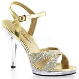 Kultaiset Kimalle 12 cm FLAIR-419G Naisten Sandaletit Korkea