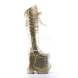 Kultaiset Kimalle 22 cm FABULOUS-3035 Reisisaappaat varten Drag Queen