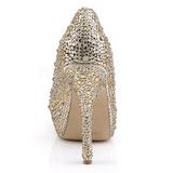 Kultaiset Kimaltelevia Kiviä 13,5 cm FELICITY-20 naisten kengät korkeat korko